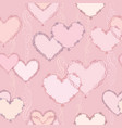 line art lve hearts seamless pattern valentine vector image vector image