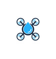 liquid drone logo icon design vector image