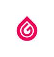 logo letter g in tear shape vector image