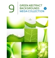 Mega set of green abstract backgrounds vector image vector image