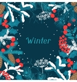 Merry Christmas background with stylized winter vector image vector image