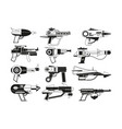 monochrome of futuristic weapons for vector image vector image