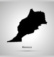 morocco country map simple black silhouette on vector image vector image