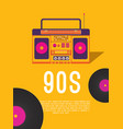 music of the 90s vector image vector image