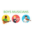 musicians boys of different nations is inspired to vector image vector image