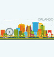 orlando skyline with color buildings and blue sky vector image vector image