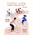 outdoor cycling competition poster flat vector image