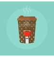 Paper Coffee cup concept vector image