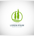 pine tree icon logo vector image vector image