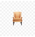 realistic chair element of vector image vector image