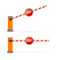 realistic detailed 3d barrier gate set vector image vector image