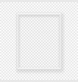realistic thin white picture frame on a wall vector image vector image
