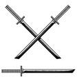 samurai katana sword design element for logo vector image