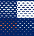 seamless maritime pattern with lifeboat vector image vector image