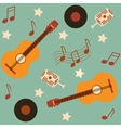 seamless musical pattern with guitars vector image vector image
