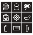 set of black and white icons arab emirates vector image vector image