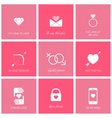 Set of flat design romantic icons for web and vector image vector image