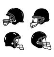 set of helmets for american football isolated on vector image