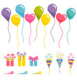 set of party elements isolated on white background vector image vector image