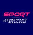 sport style font vector image vector image
