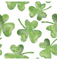 st patricks day background leaves seamless vector image