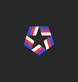 star shape logo blue-red-white american vector image