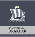 symbol with drakkar vector image vector image