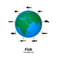 the concept of fishing vector image