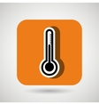 thermometer square button isolated icon design vector image