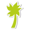 tree palm summer isolated icon vector image vector image