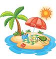 Tropical Island Beach vector image vector image