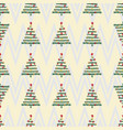 vintage christmas pattern vector image vector image