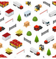 warehouse concept seamless pattern background 3d vector image vector image