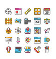 web design and development icons 8 vector image vector image