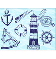 Nautical collection - hand-drawn vector image