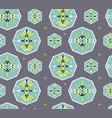 seamless pattern with tribal geometric symbols vector image