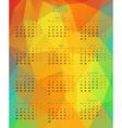 Abstract 2015 year polygonal calendar vector image