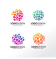 abstract technology logo pack vector image vector image