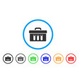 analysis case rounded icon vector image vector image