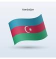 Azerbaijan flag waving form vector image vector image
