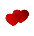 banner hearts for valentine s day greeting vector image vector image