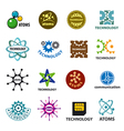 biggest collection of logos technology and atoms vector image