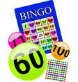 bingo card vector image vector image