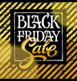 black friday sale typography design white vector image vector image