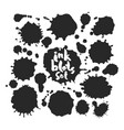black inkblots set vector image