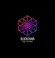 blockchain logo concept modern technology design vector image vector image