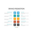 brand promotion infographic 10 option concept