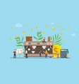 coffee business concept with money investment vector image