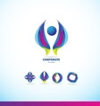 Corporate business abstract logo icon vector image