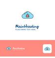 creative bug on cloud logo design flat color logo vector image